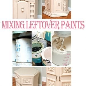 mixing leftover paint