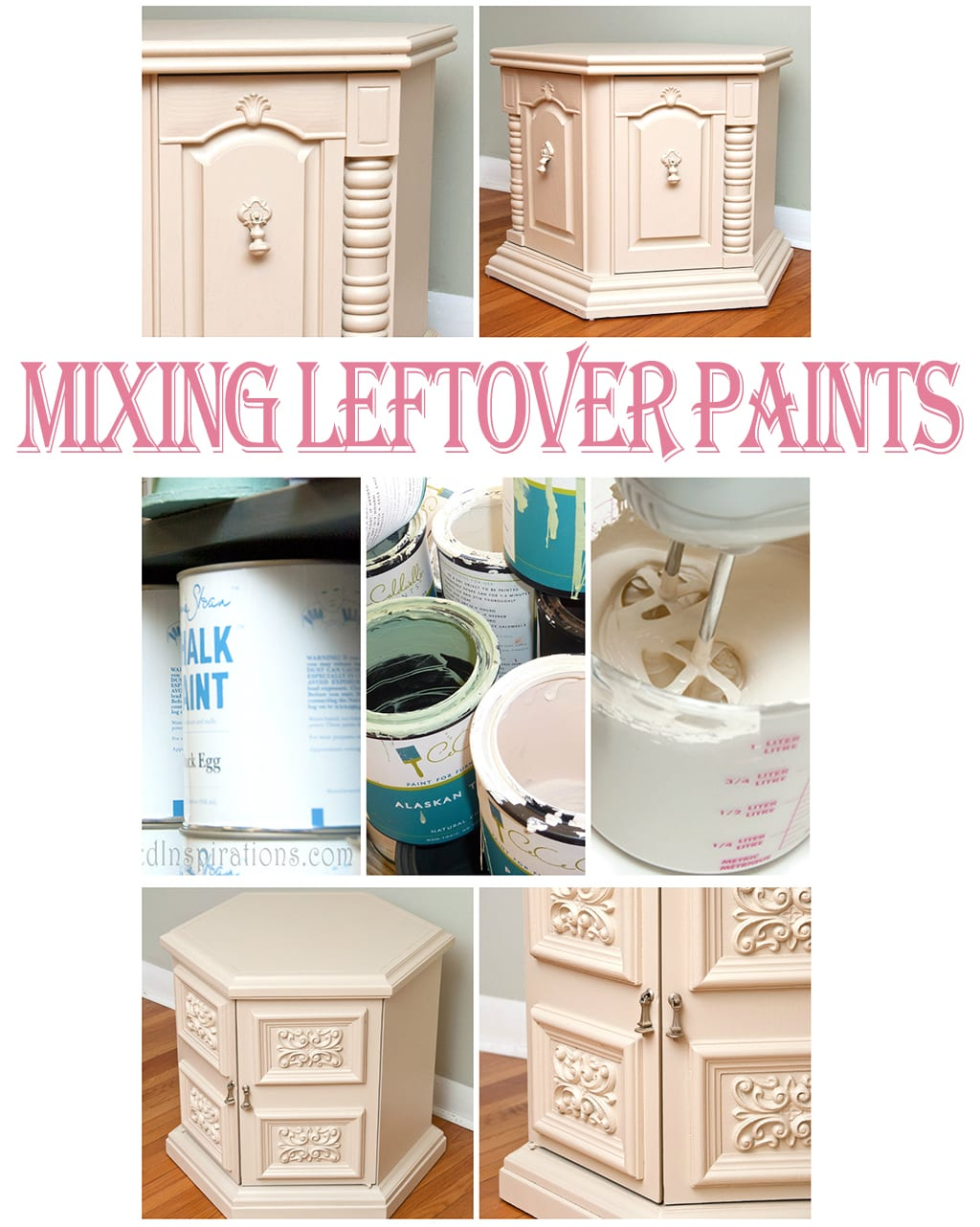 Mixing Leftover Paints & Creating Custom Colors For Small Projects