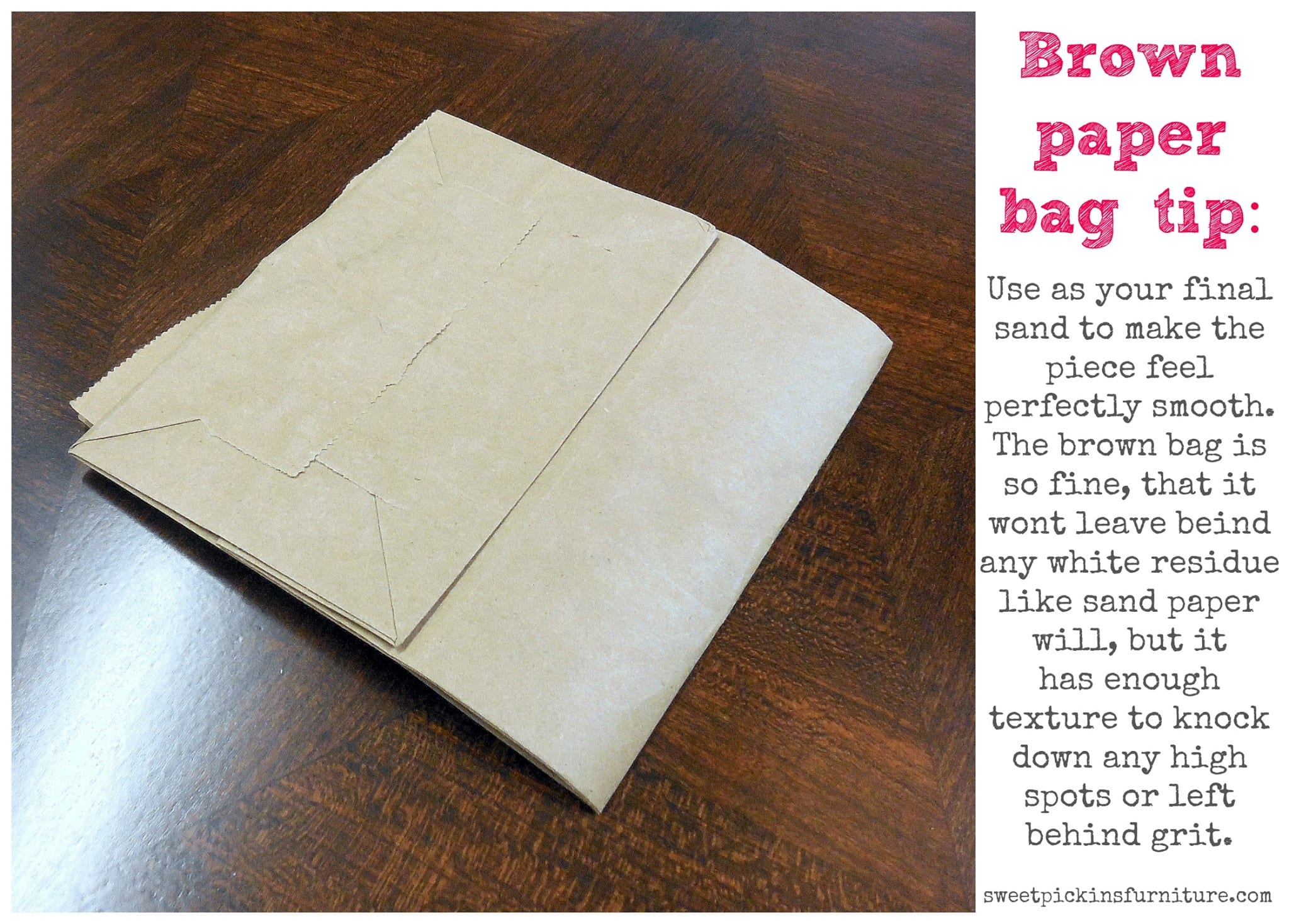 Quick-Tip-Tuesday ~ Using A Brown Paper Bag 4 Your Final Sanding