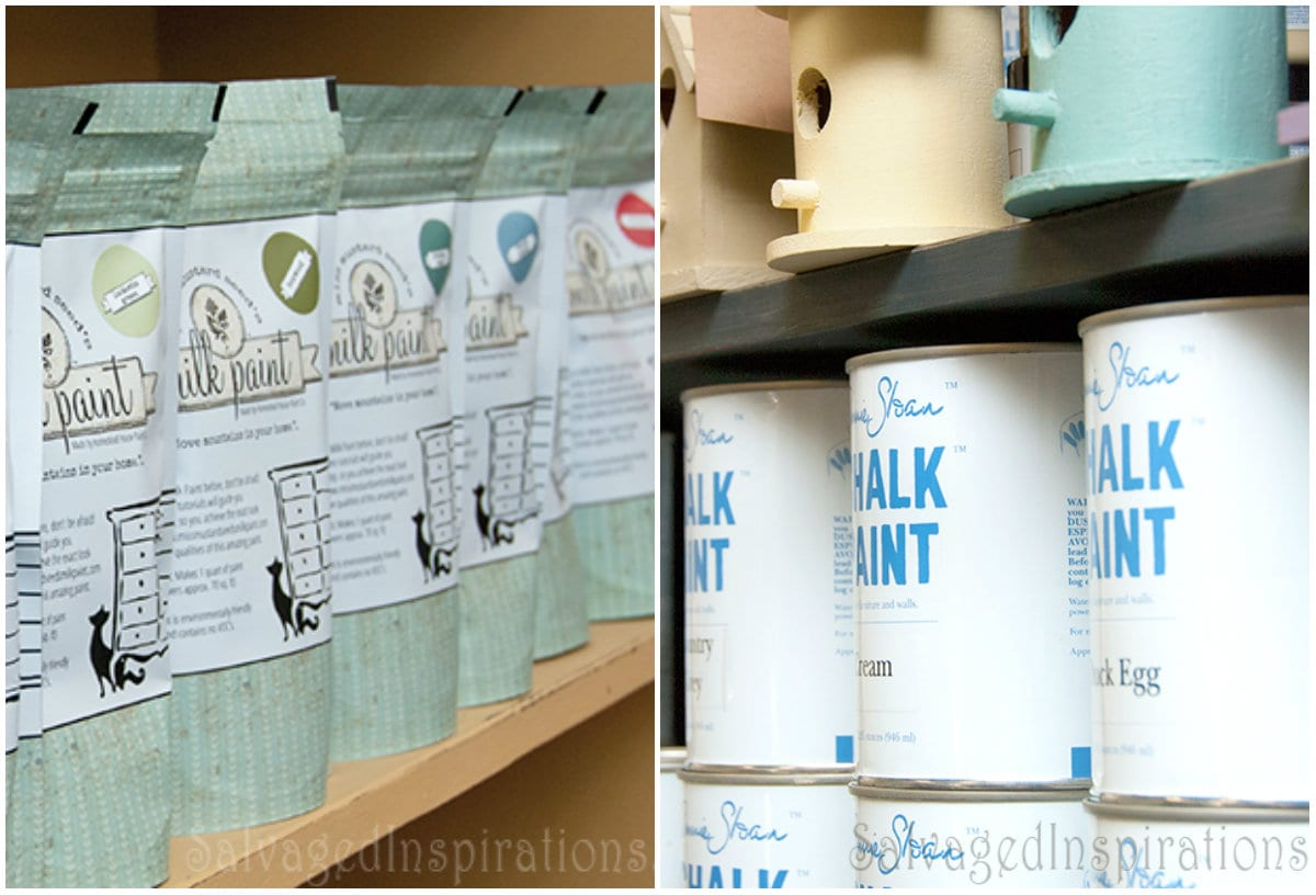 wet paint brush storage-milk-chalk-paiint