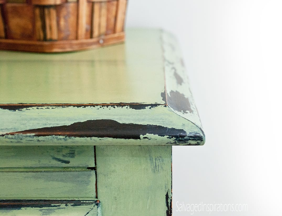 Chippy-Vaseline-Distressed-Dsk - How To Distress Furniture With Vaseline... What Took Me So Long
