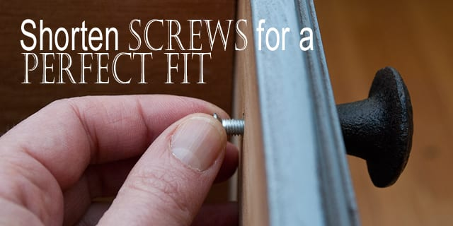 Quick-Tip-Tuesday ~ A Screwy One!