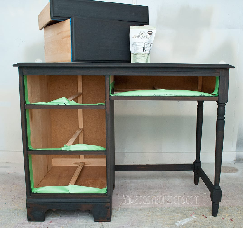Distressed Desk W Vaseline1