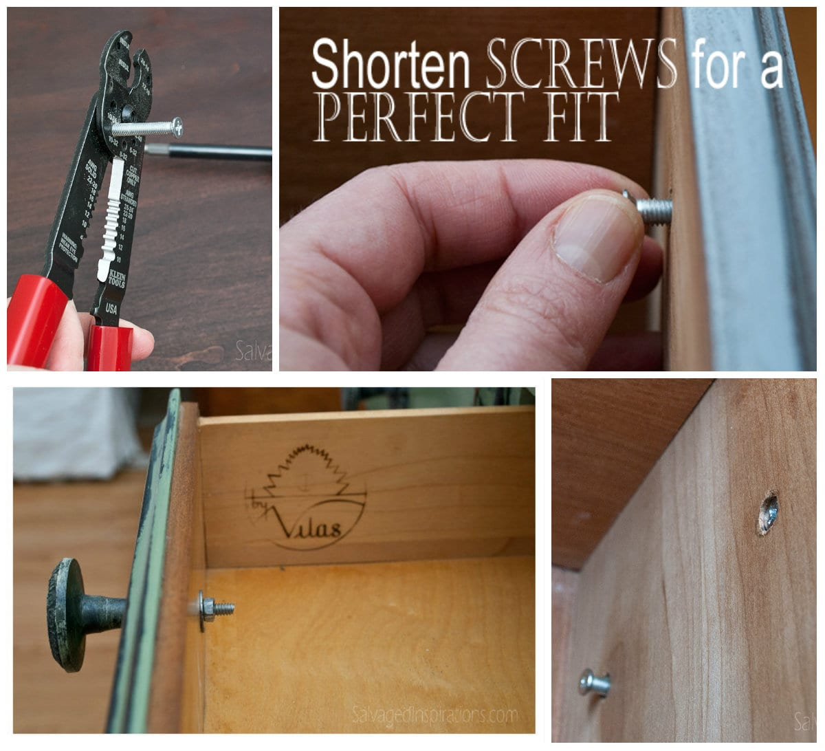 cut screws for custom hardware