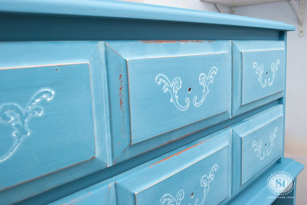 Raised-Stencil-on-Dresser-Drawers