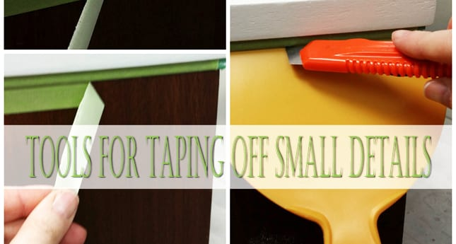 Quick-Tip-Tuesday ~ Tools For Taping Off Small Details