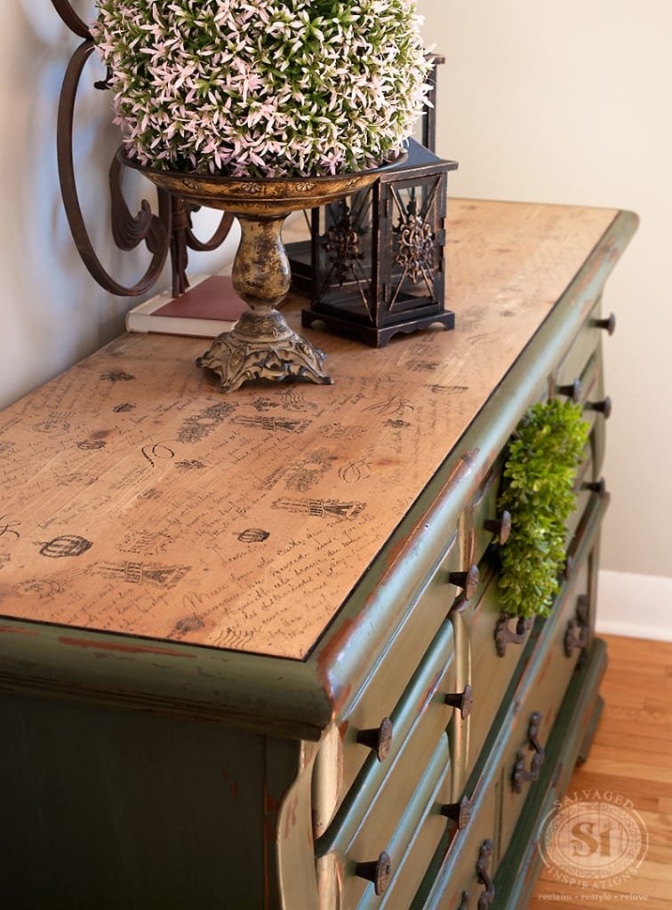Decoupage-Painted-Dresser
