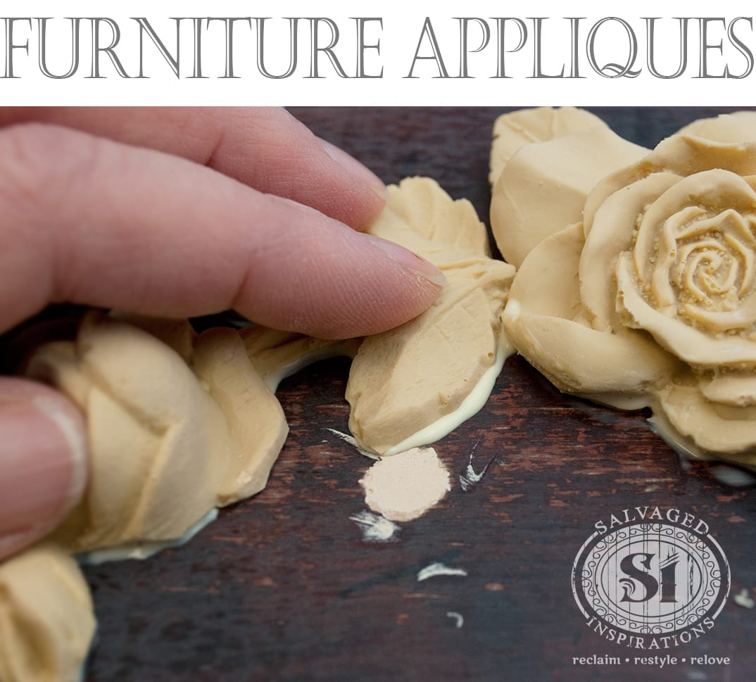 Dressing Up A Classic French Provincial with An Easy-To-Glue-On Applique