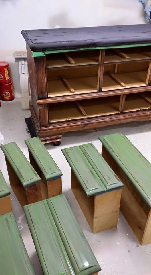 MMS Boxwood 80s Dresser