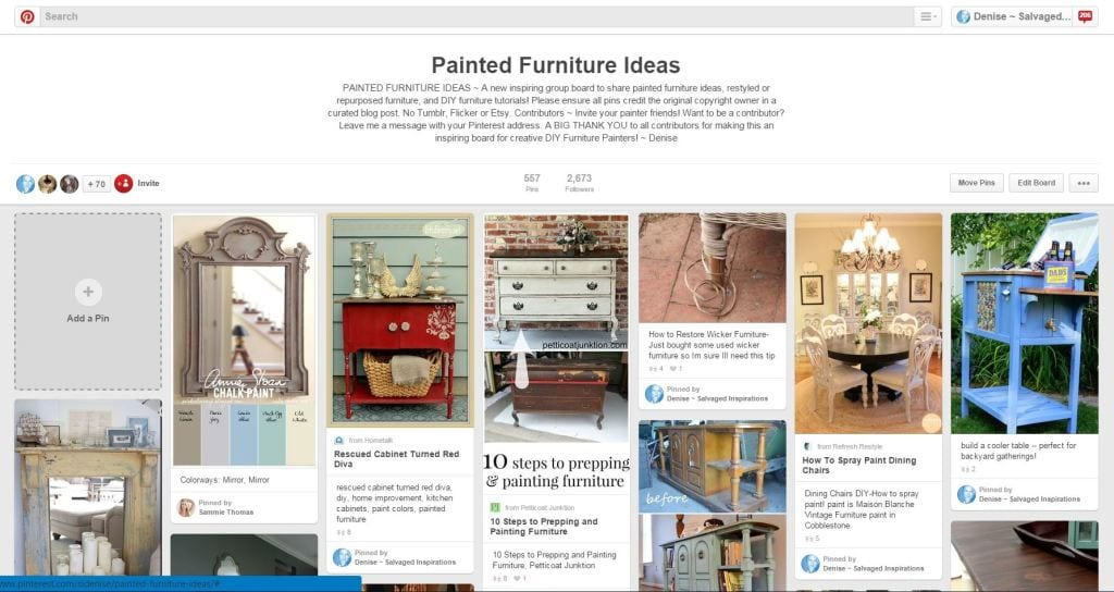 Painted Furniture Ideas Pinterest Capture