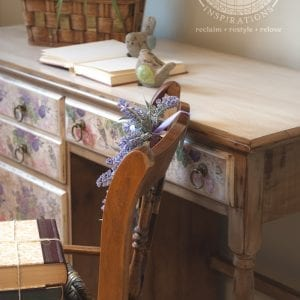 decoupage bird desk