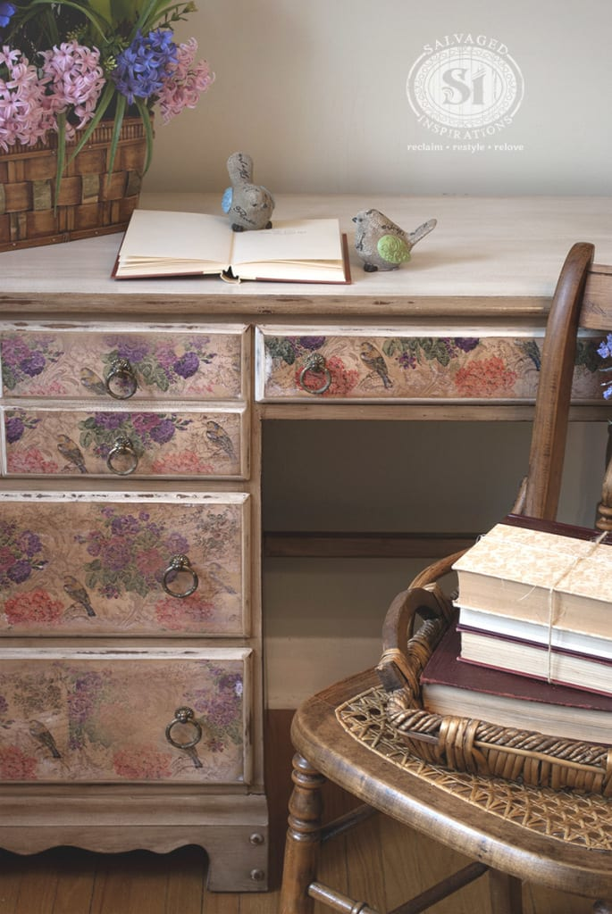 How To Decoupage With Napkins Salvaged Inspirations