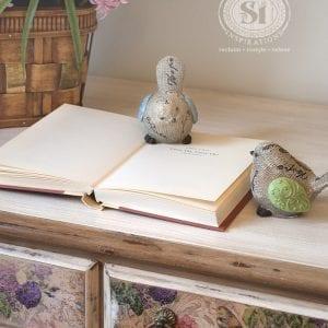 glazed desk top