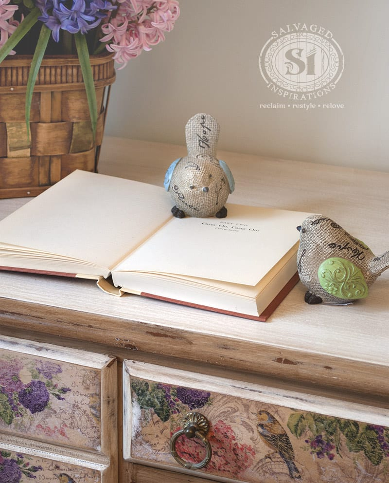 How To Feather Glaze A French Country Bird Desk
