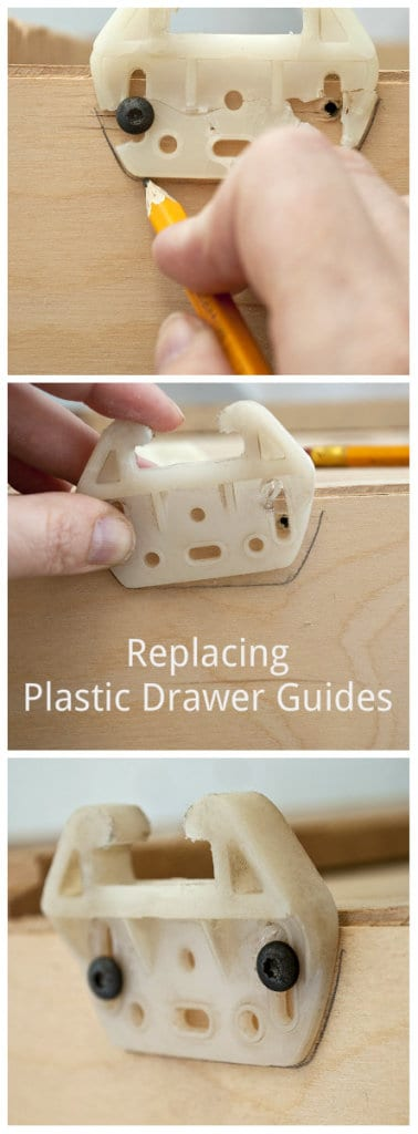 Replacing Plastic Drawer Guides