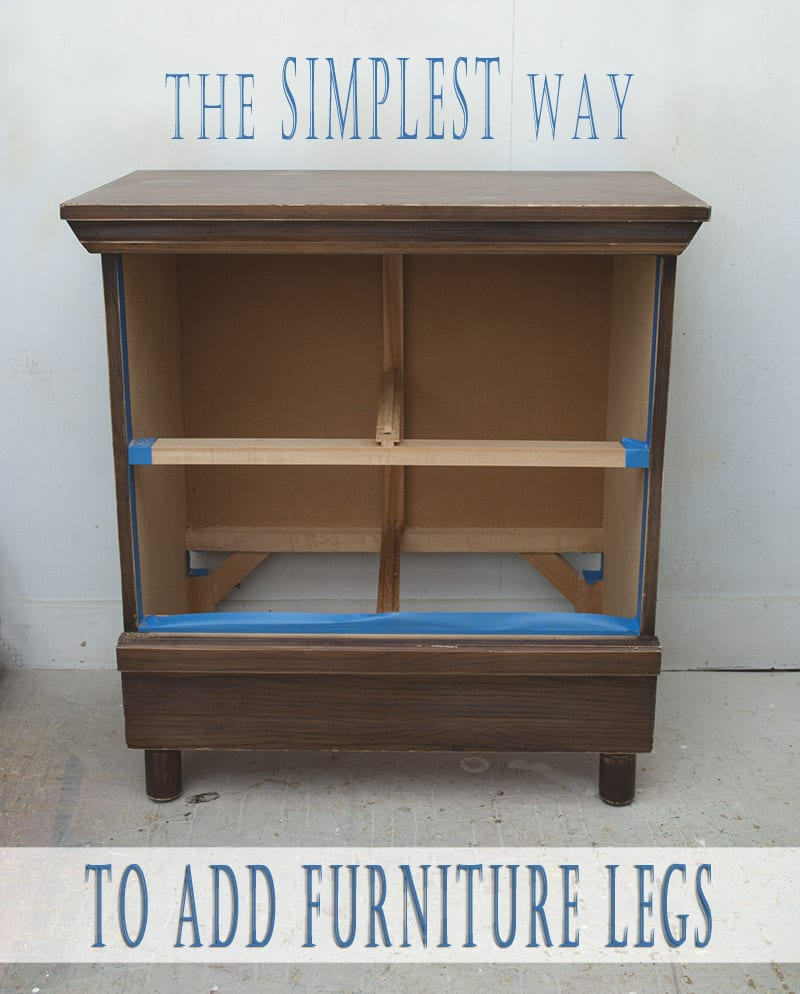 Simple way To Add furniture legs