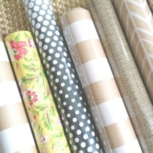 Gift Wrap for Drawer Liners