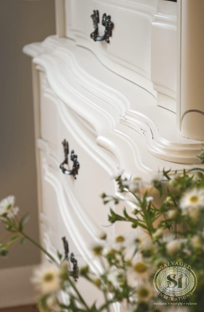 GF Antique White French Provincial Dresser