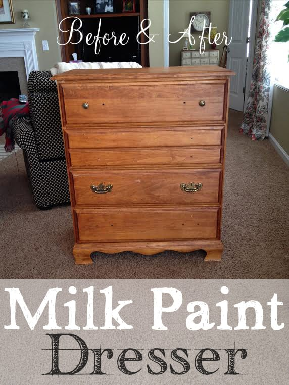 Before-Milk Paint Dresser