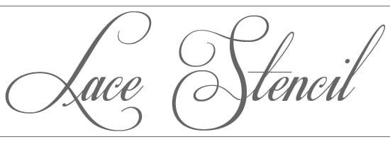 Lace Stencil Text