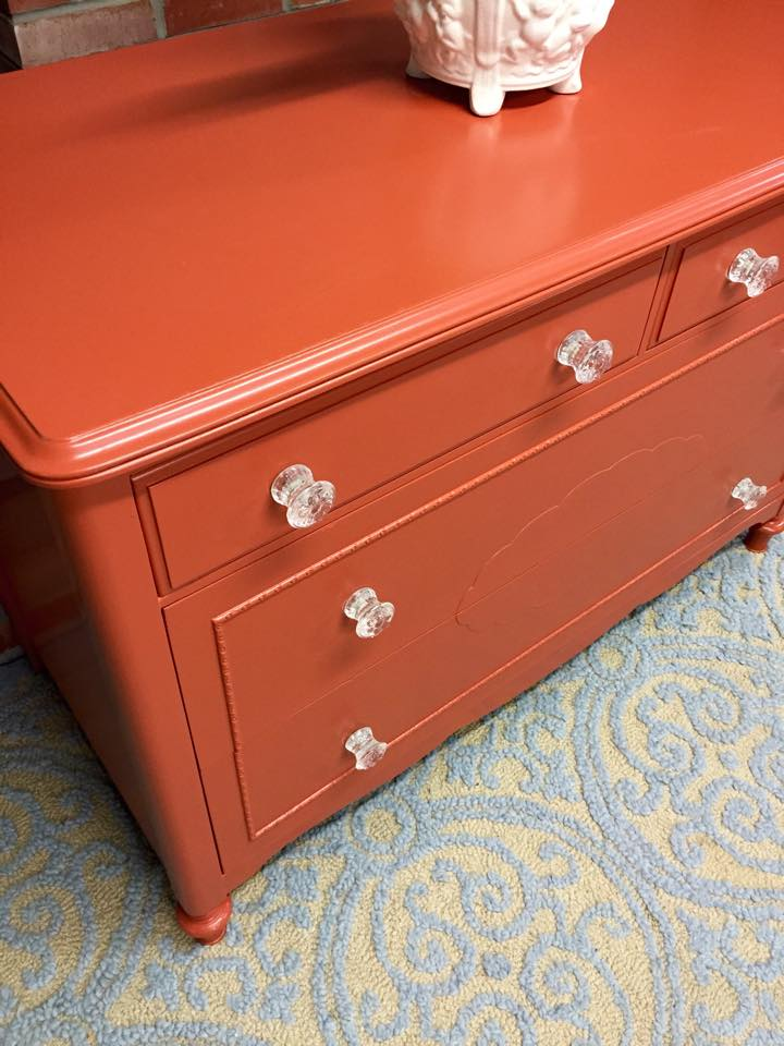 Orange Dresser - Simple Redesign