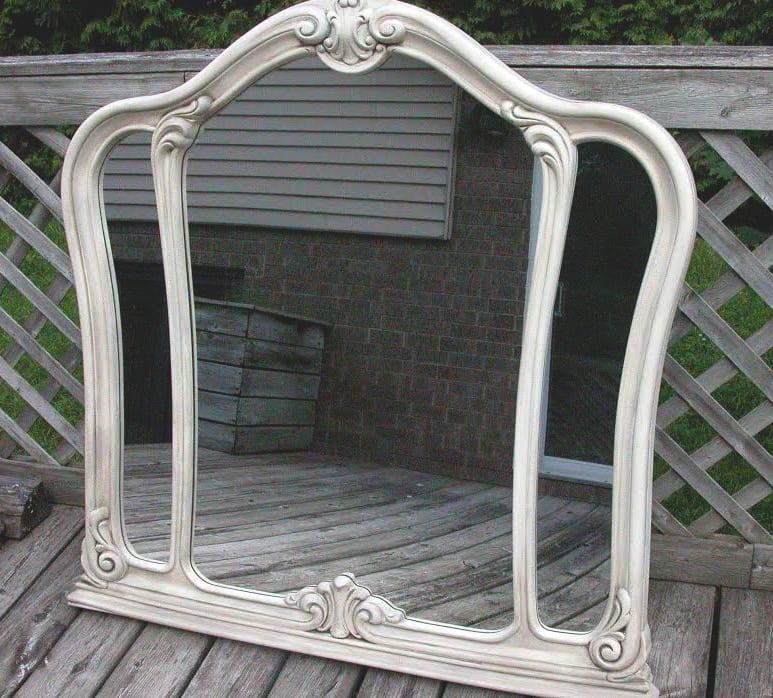 diy chalk paint mirror