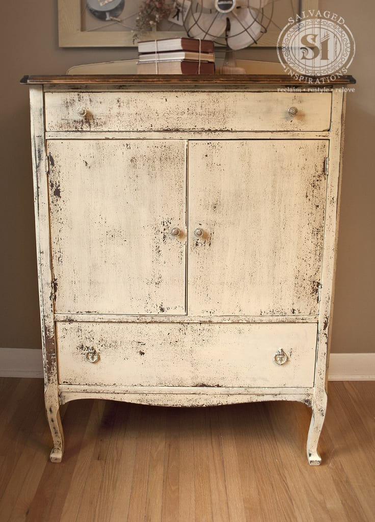 Yellow Milk Painted Dresser