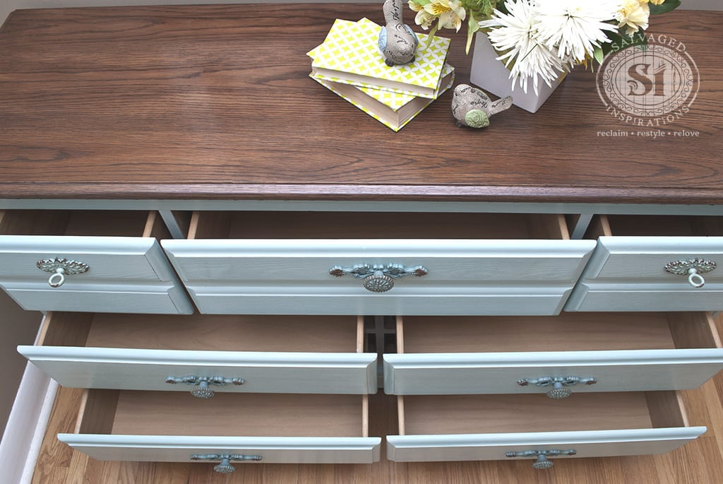 Milk Painted Dresser Drawers
