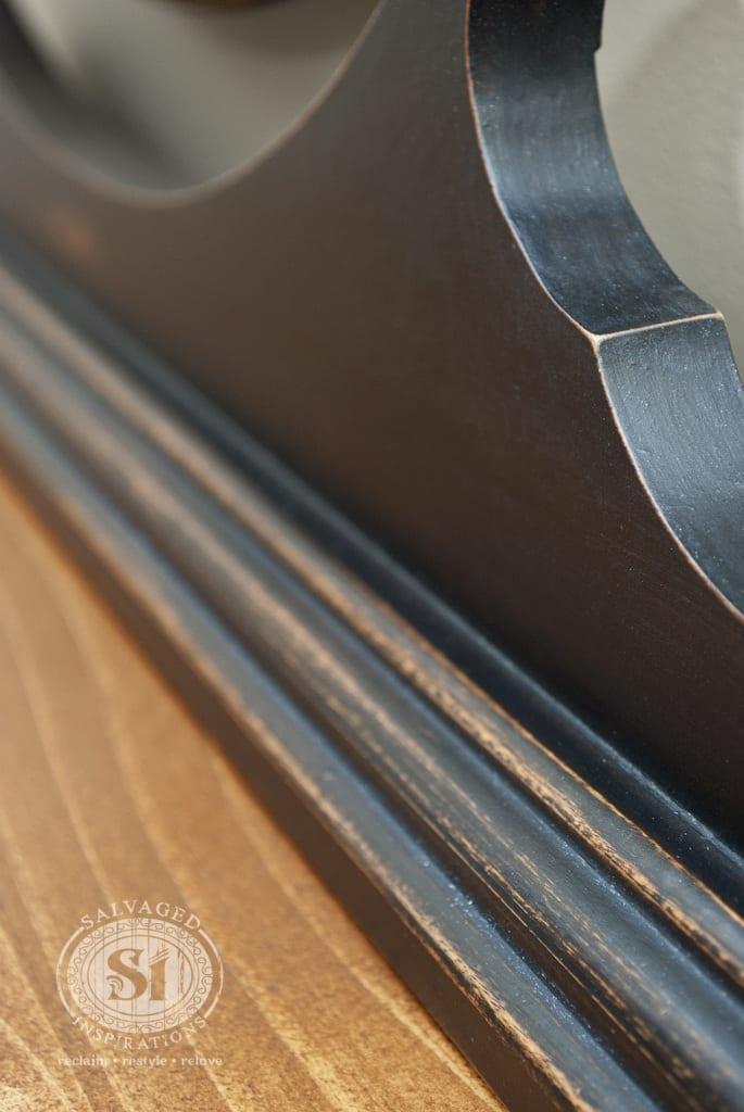 Salvaged Backboard on Dresser