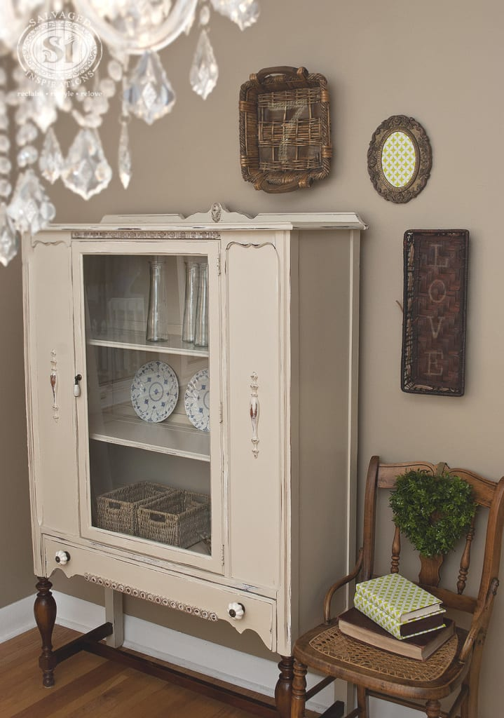 1930's GF Linen China Cabinet