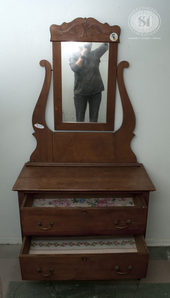 Antique Dresser w Mirror Before