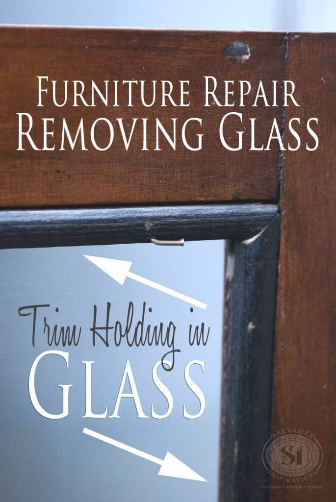 Removing Glass from Antique China Cabinet