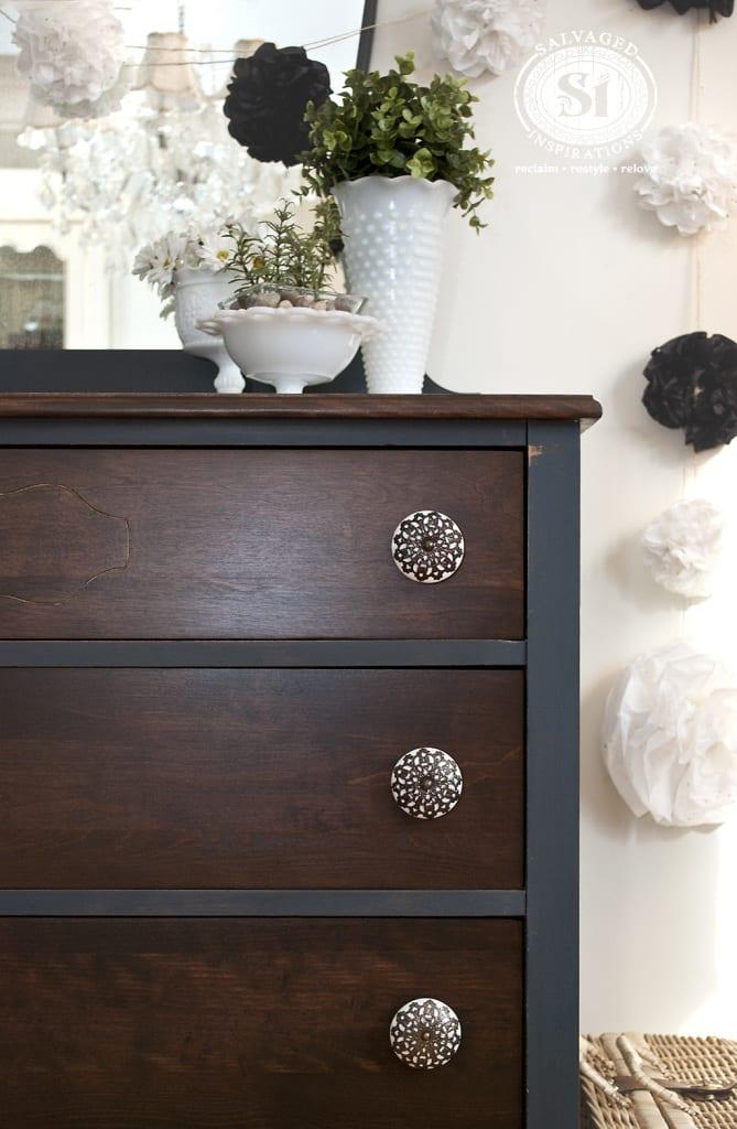 Bluestone Cottage Chalk Patina Dresser + Mirror