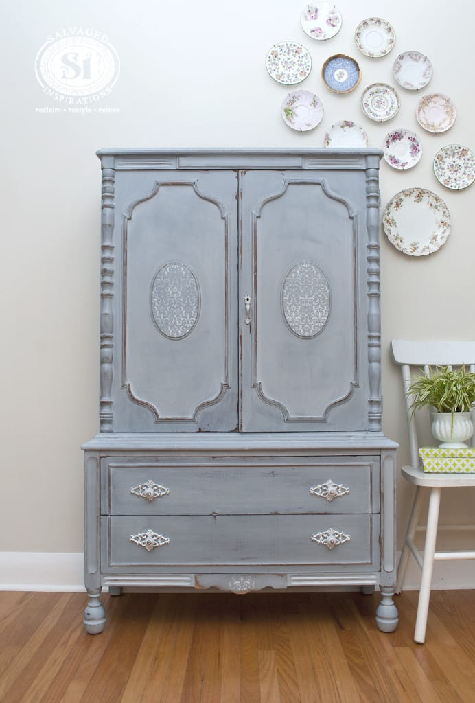 French Country Armoire - Shutter Gray