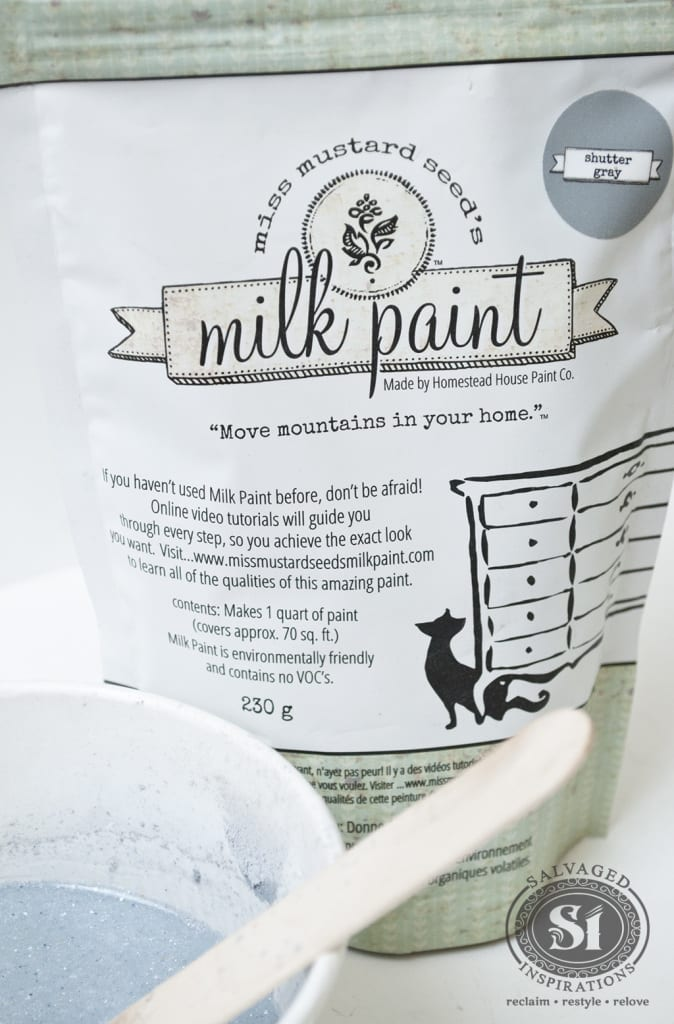 Miss Mustard Seed's Sutter Gray Milk Paint