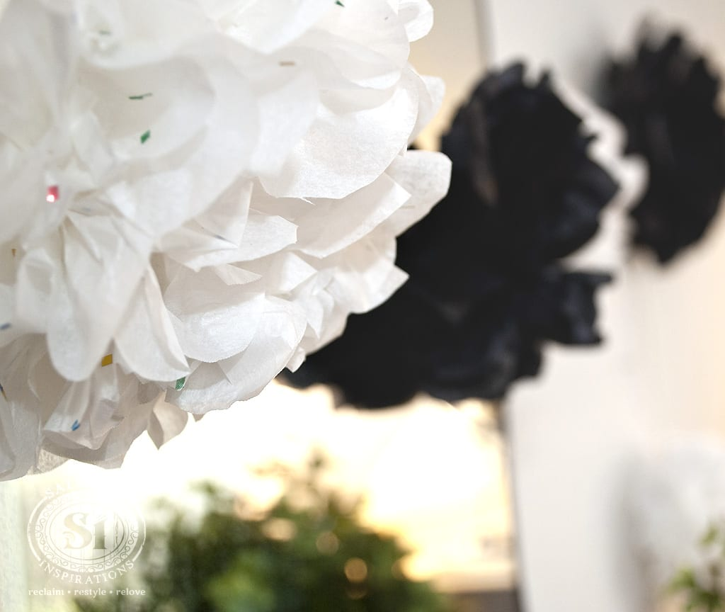 Stringed Tissue Paper Flowers