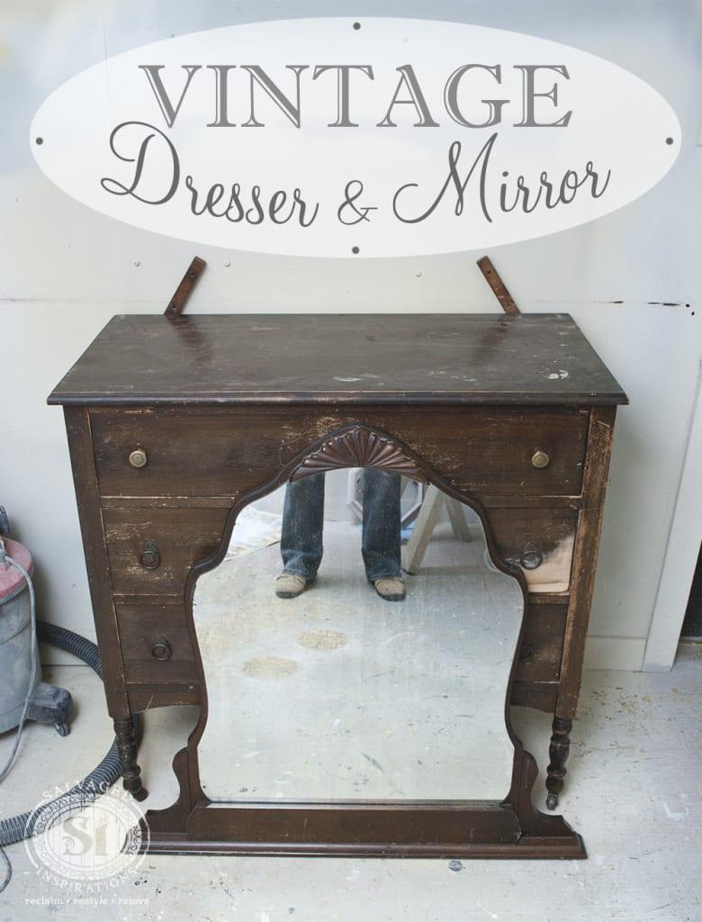 Vintage Dresser&Mirror-Before