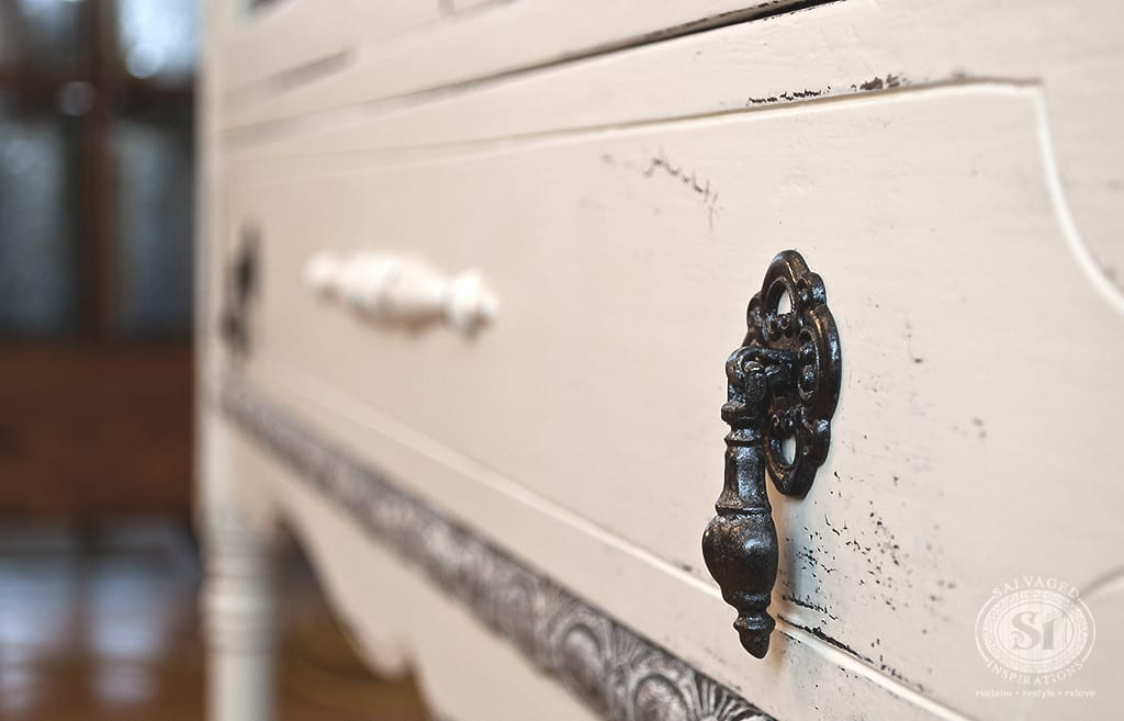 Chalk Paint Distressed Drawer