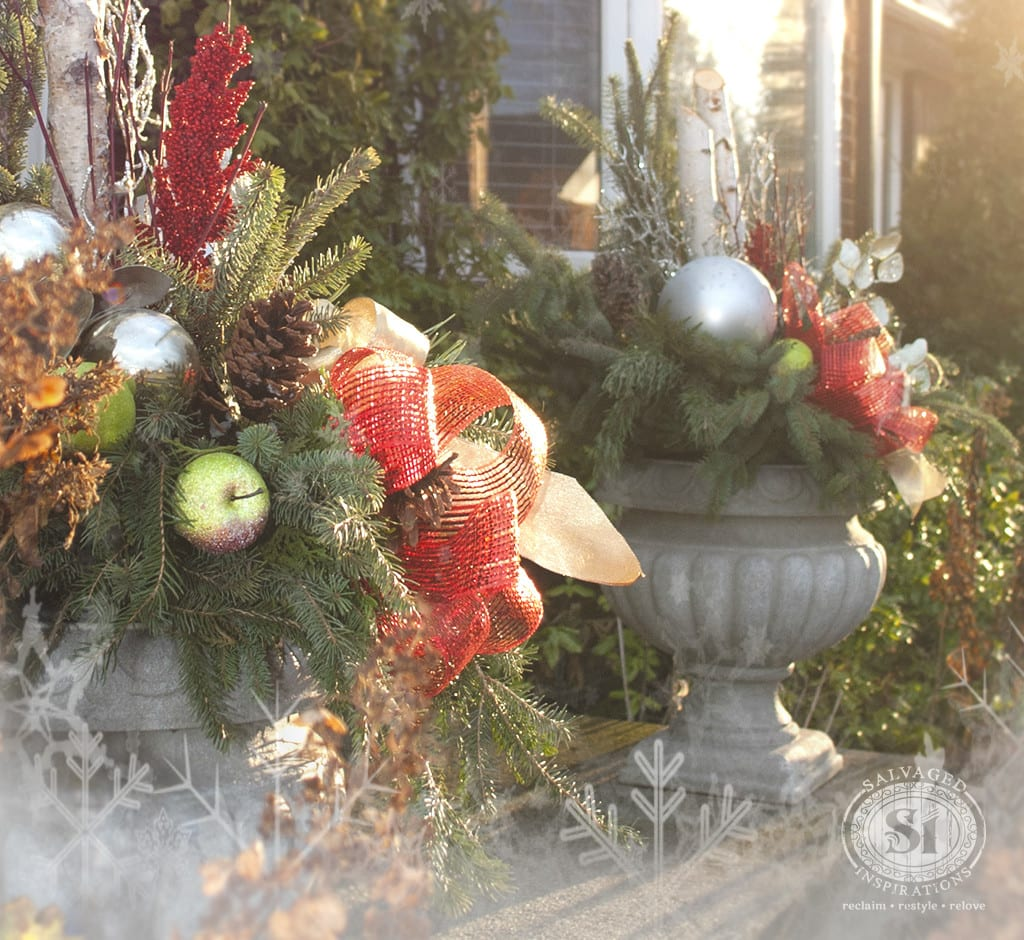 DIY Christmas Planters-1
