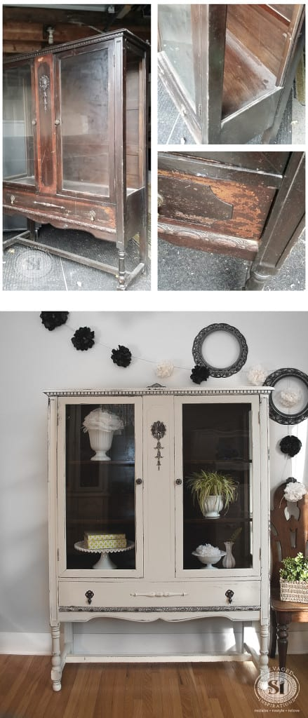 GF Chalk Style China Cabinet Before&After