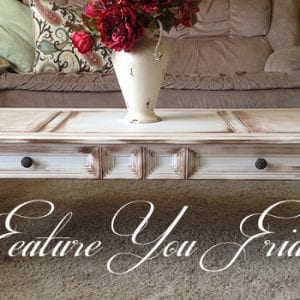 Jaana's Restyled Coffee Table-Feature Friday