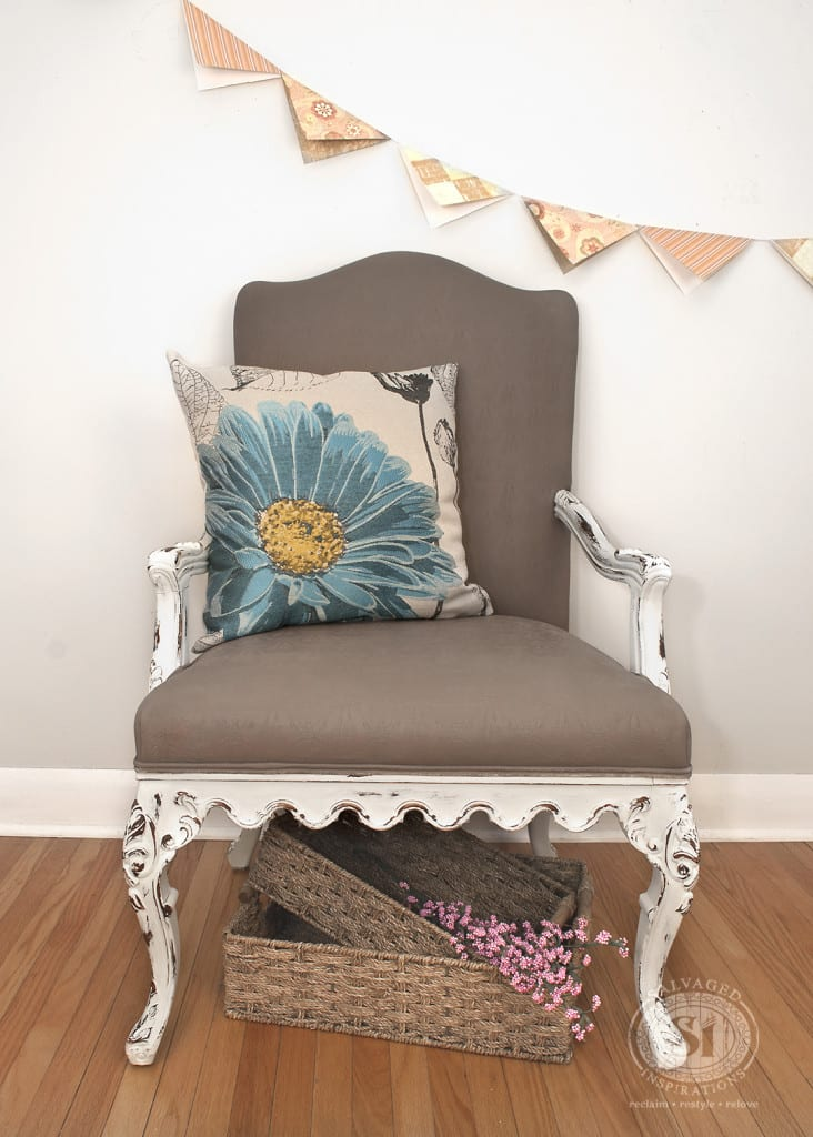 Chalk Paint Queen Anne Chair
