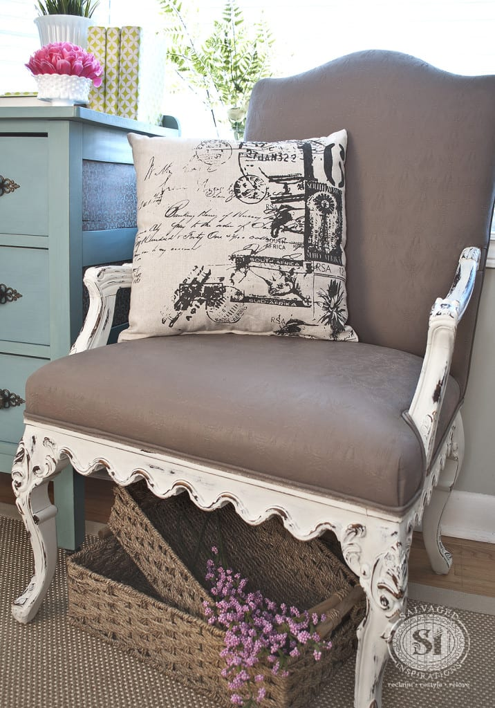 General Finishes Chalk Style Fabric Painted Chair-2