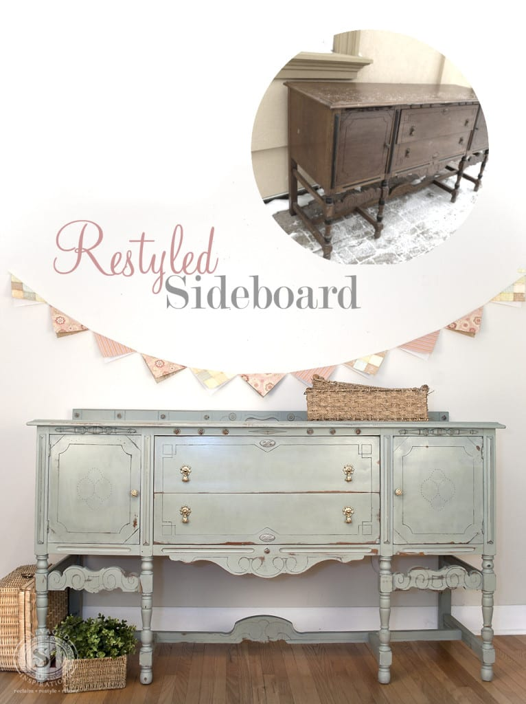 Restyled Sideboard Before & After