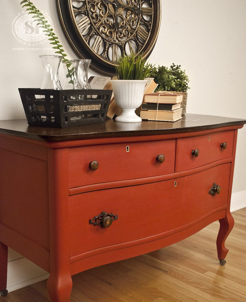 Salvaged Low Boy Dresser - Moulin Rouge Bluestone House