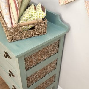 Stenciled and Painted Dresser - Milk Paint