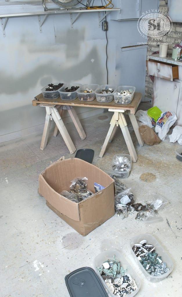 organizing furniture hardware and knobs