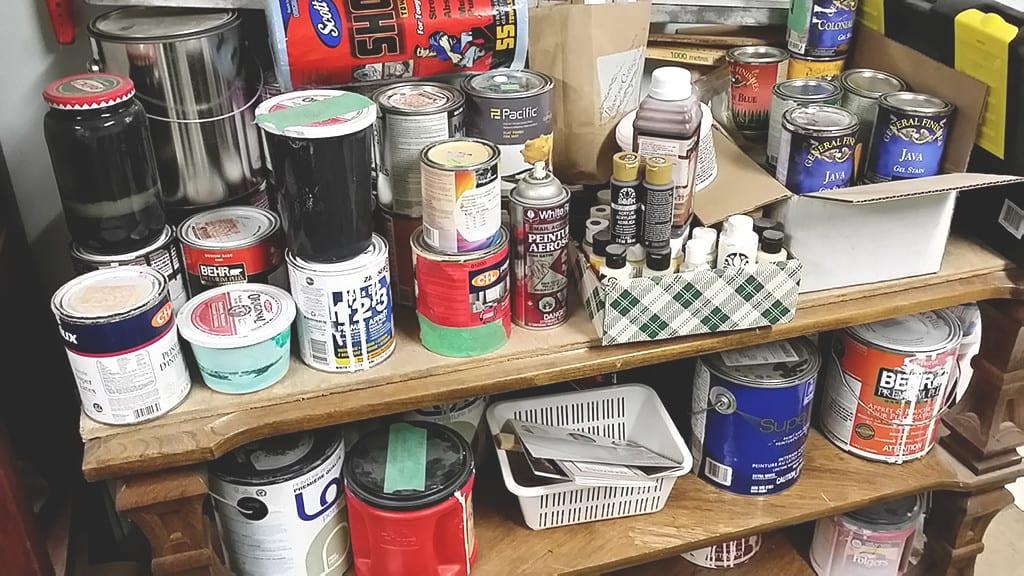organizing my paint workspace