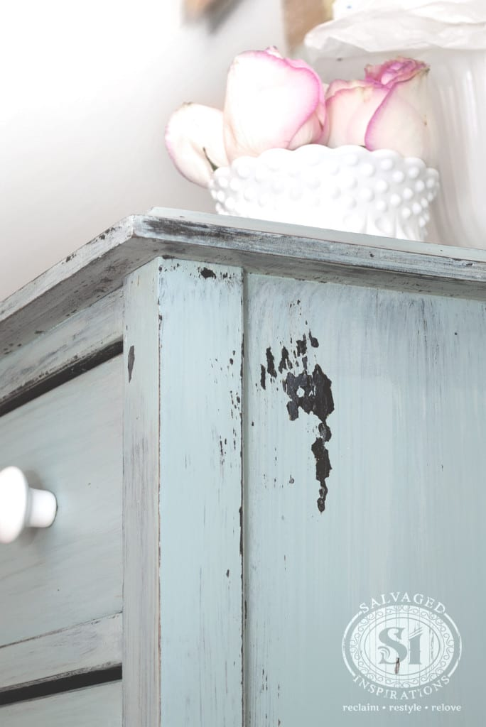 Chippy Distressed Milk Painted Dresser