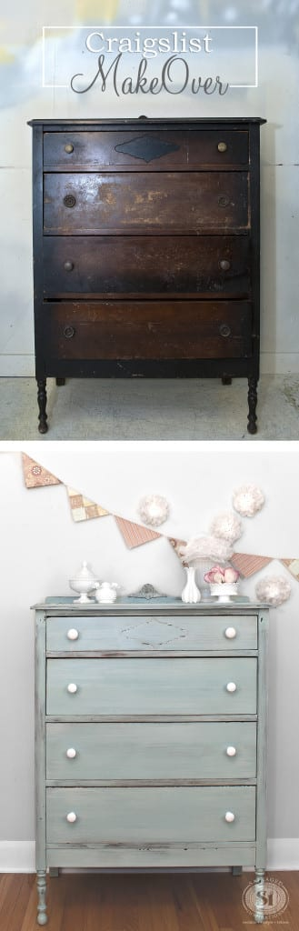 Craigslist Dresser Makeover - Before&After
